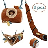 JanYoo Hamster Hammock Cage Accessories Hanging Fleece Bed Swing Bag for Sugar Glider Guinea Pig