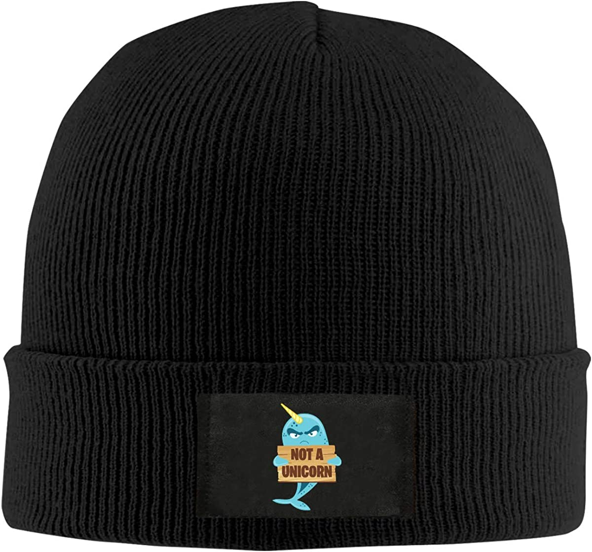 Not A Unicorn Funny Narwhal Fish Sea Unisex Knitted Hat Fashion Warm Beanie Cap