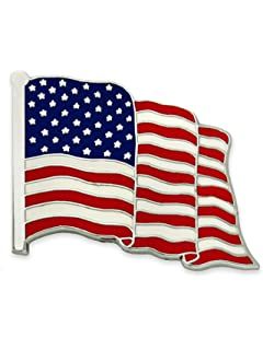 USA107 NEW Carded American Flag Lapel Pin