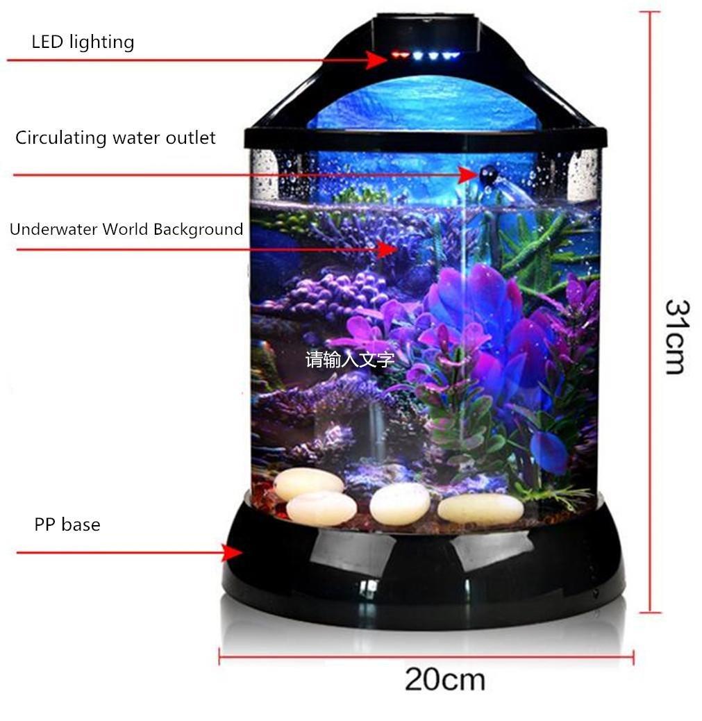 YANFEI 10L pequeño acuario de acuario de escritorio pequeño acrílico ...