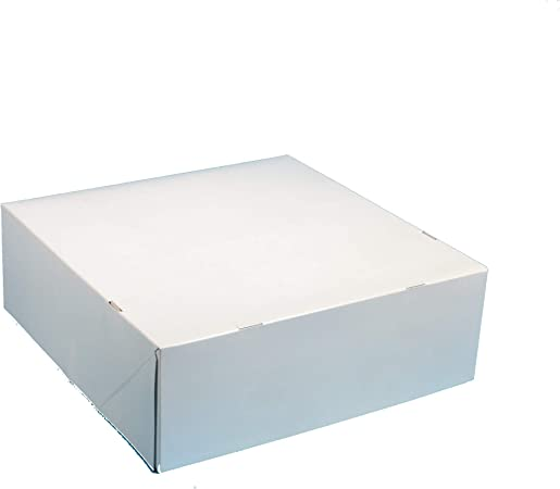 50 Caja para Tarta pastas Caja Principal cakeboxen Caja de Transporte para Pasteles, Tartas y, Color Blanco, Enmarcado, 32 x 32 x 11 cm: Amazon.es: Hogar