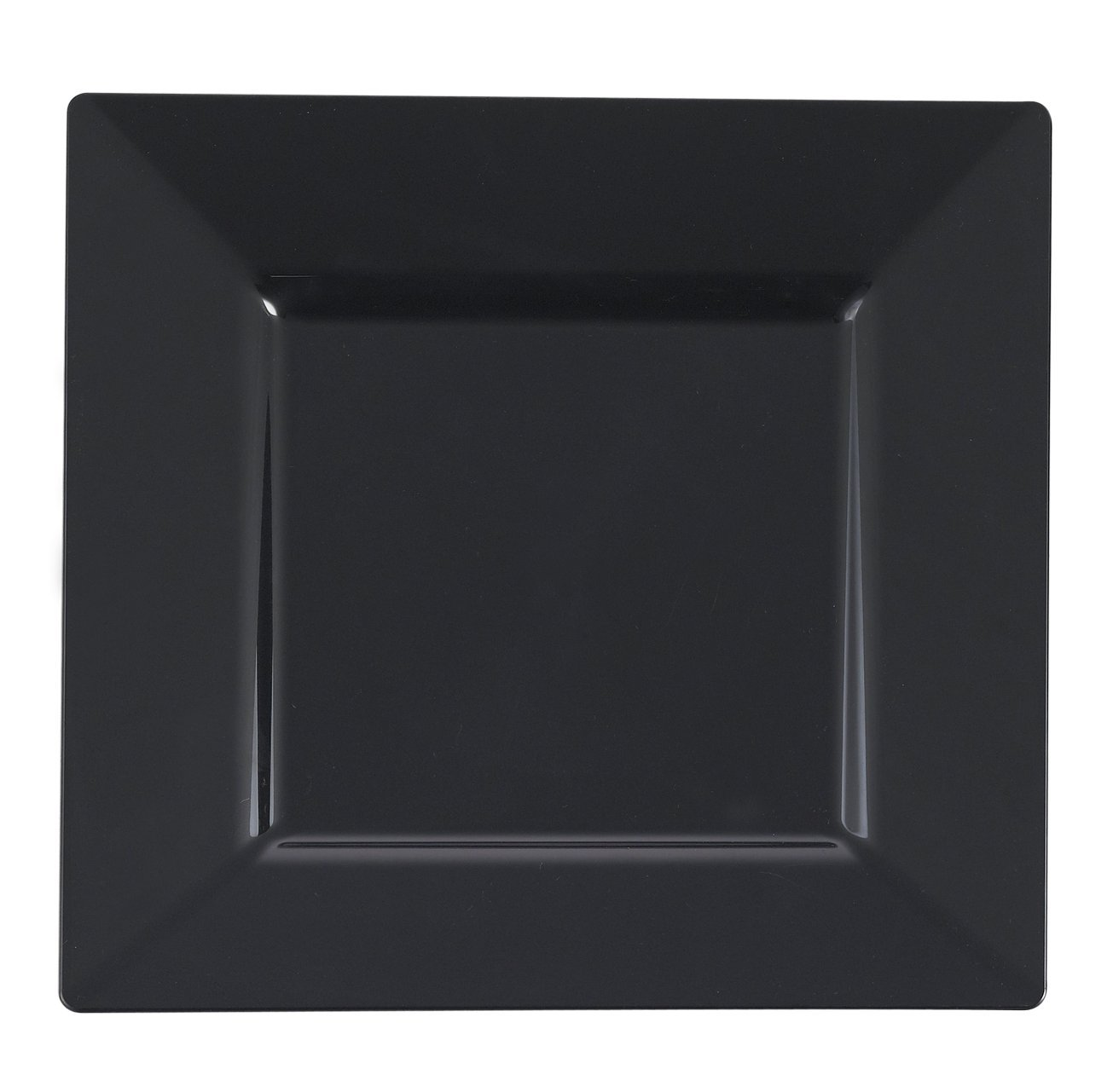 Kaya Collection - Black Plastic Square 10.75'' Dinner Plates - Disposable or Reusable - 1 Case (120 Plates) by Kaya Collection (Image #1)