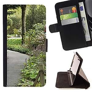For HTC DESIRE 816 Case , Planta Naturaleza Forrest Flor 106- la tarjeta de Crédito Slots PU Funda de cuero Monedero caso cubierta de piel