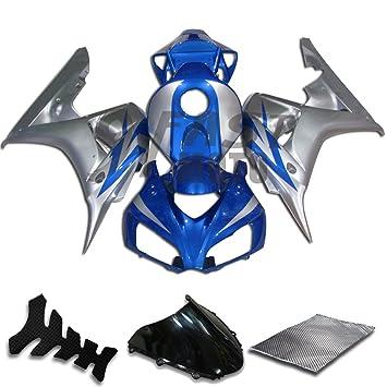 9 fastmoto embellecedores para Honda 2006 2007 Cbr1000 RR 06 07 Cbr1000 RR carenado Kit ABS Inyección Set Sportbike Cowls paneles (azul y plata) H0210: ...