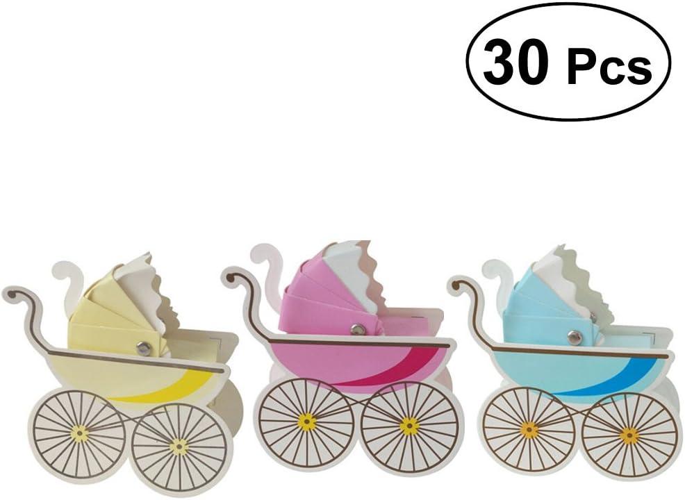 YeahiBaby Cajas de Caramelos Bombones Dulce Chocolate de Papel Cajas de Regalo para Fiesta Boda Decoraciones del Regalo de Cumpleaños Bautizo Boda Beige/Azul/Rosa 30 Piezas