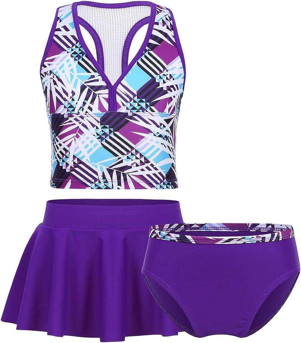 iiniim Girls Kids Tankini Set Swimwear Bikini Skirt Swimsuit Swimming Costume Age 2-16 Years