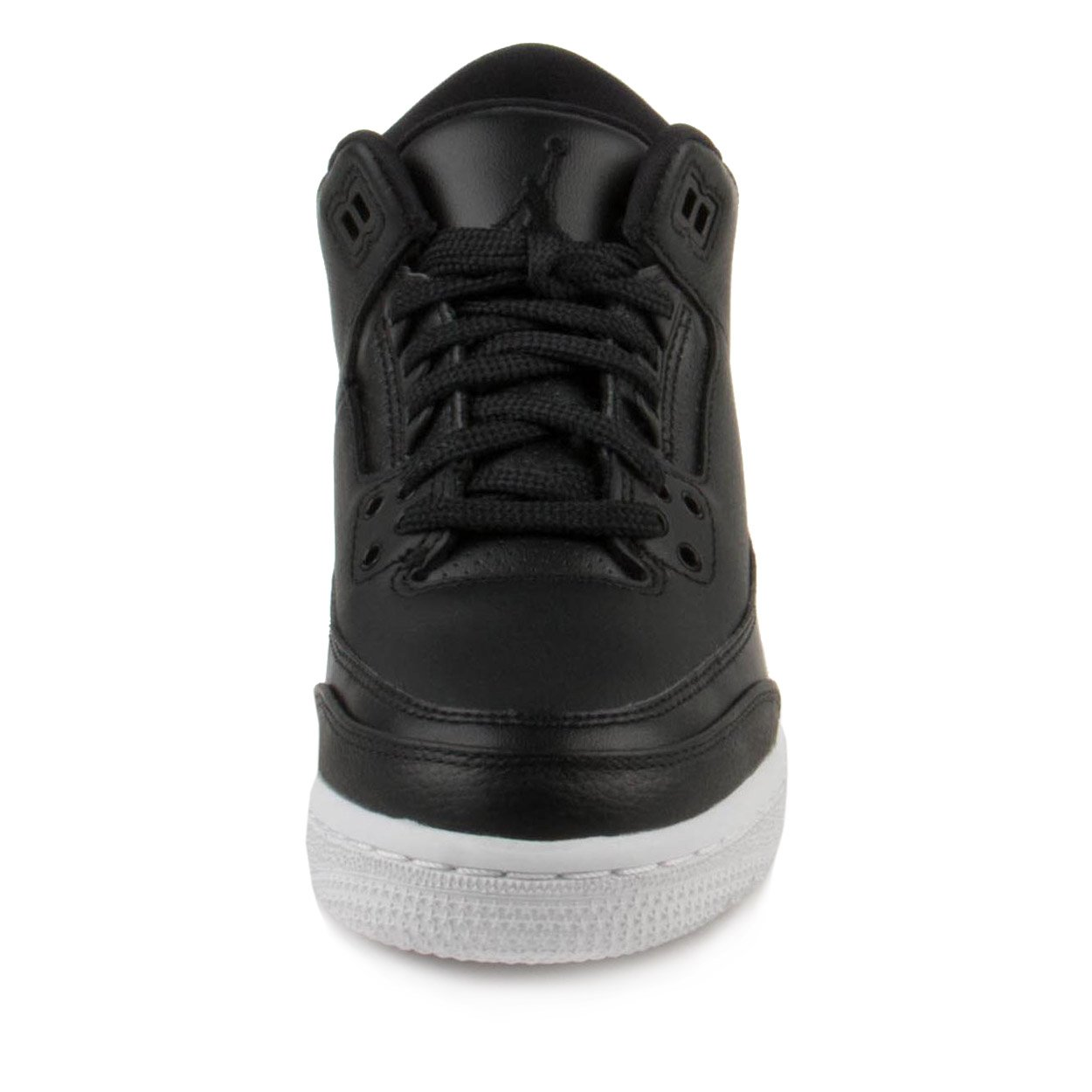 NIKE Jordan Air 3 Retro Bg Boys Basketball Shoes (7Y, Black/Black/White) by Jordan (Image #3)