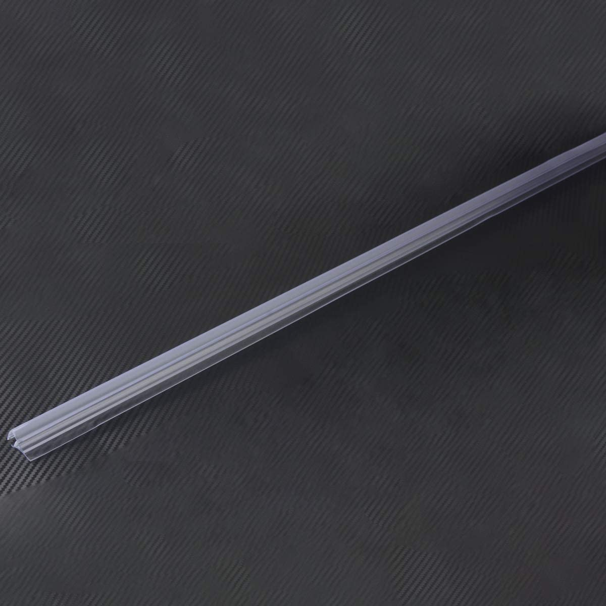Sello inferior de la puerta de ducha Queenbox 66 cm PVC transparente Ba/ño Pantalla de ducha Tira de sello de puerta Separador de 11 mm Tira de sello de gabinete de ducha para vidrio sin marco de 8 mm