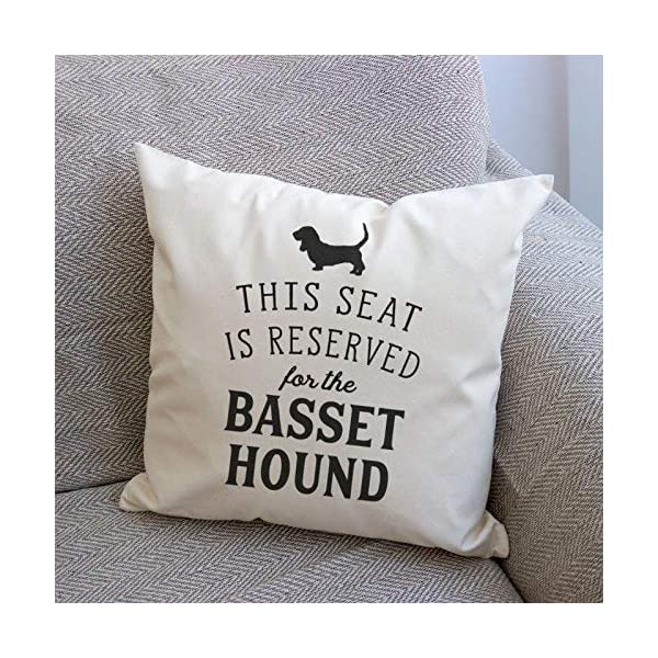 NEW - RESERVED FOR THE BASSET HOUND - Top Quality Cushion Cover - Dog Gift Present Xmas Birthday 2