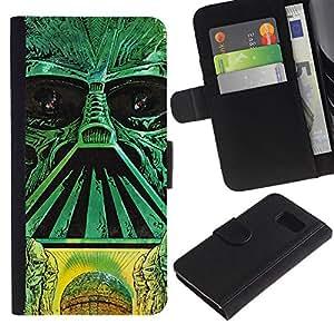 YiPhone /// Tirón de la caja Cartera de cuero con ranuras para tarjetas - Estrella Galaxy Troopers - Samsung Galaxy S6