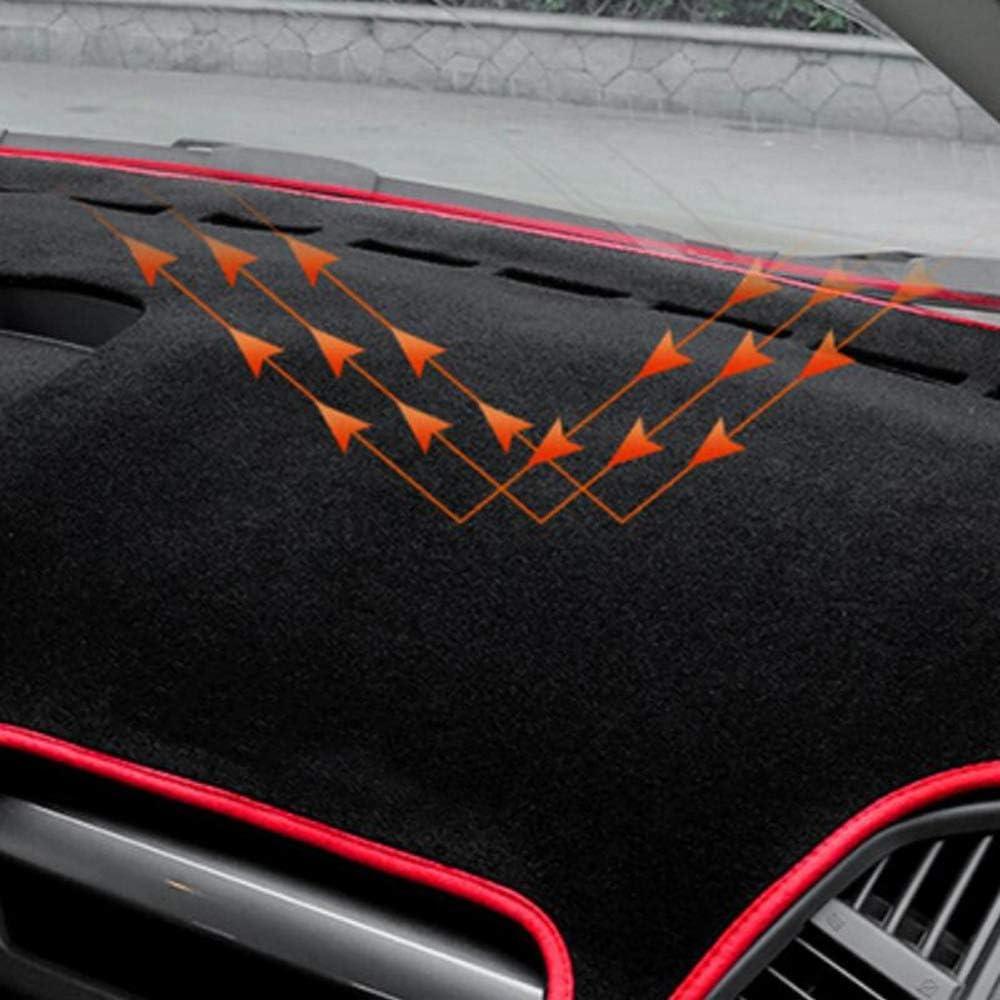 XDDXIAO Pegatinas De La Funda para Ford Ecosport 2018 Car Styling 1Pcs Tablero De Instrumentos De Poli/éster para Coche Pegatinas De Cubierta De Almohadilla Anti-Suciedad,Rojo,Leftrudder