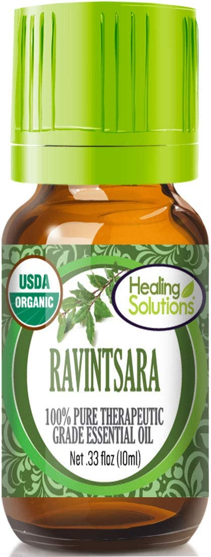 Organic Ravintsara Essential Oil (100% Pure - USDA Certified Organic) Best Therapeutic Grade Essential Oil - 10ml