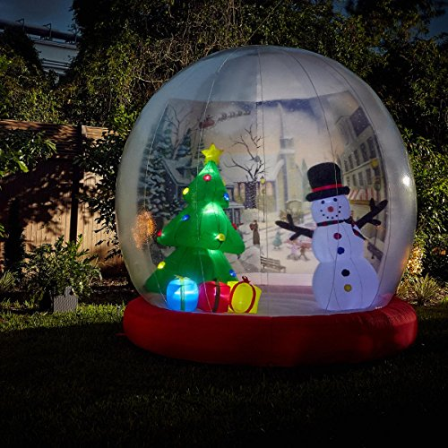 Winter Lane 10 ft. Inflatable Snow Globe Yard Decoration