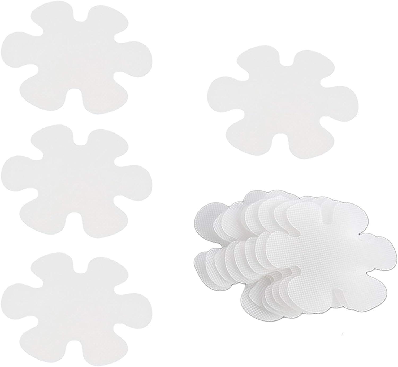 Minzhenamz - Adhesivos antideslizantes para bañera, ducha, cocina, escaleras, resistente al agua sin huellas, forma de copo de nieve, transparente, seguridad en el cuarto de baño (20 unidades)