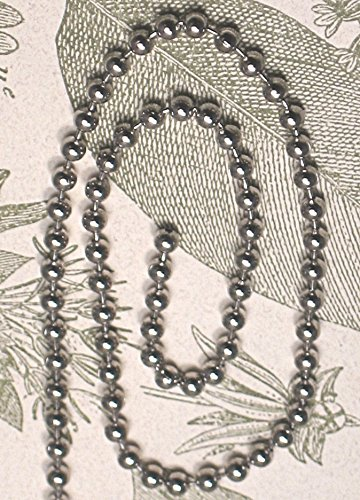 3 Feet of Silver-tone Ball Extension Chain with End Connector for Extending Ceiling Fan Pulls or Light Pulls