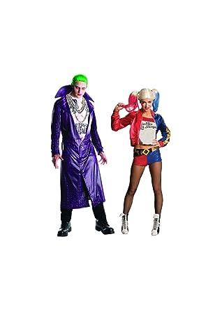 Amazon.com: <b>Suicide Squad Joker</b> and <b>Harley Quinn</b> Couples <b>Costume</b> ...