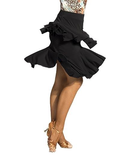 SCGGINTTANZ G2046 Profesional Falda de Danza Latino Latin Moderno ...