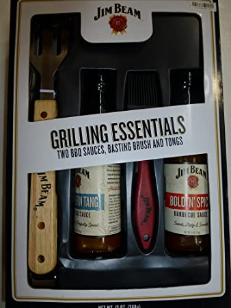 Image Unavailable. Image not available for. Color: Jim Beam Grilling Essentials Gift Set ...
