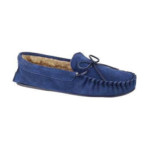 Mirak - Pantoufles Femme Bleu Marine À Domicile fr6AwY