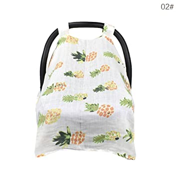 Muslin Baby Car Seat Canopy Cart Stroller Carseat Covers Cover Windproof Sunshade With Straps