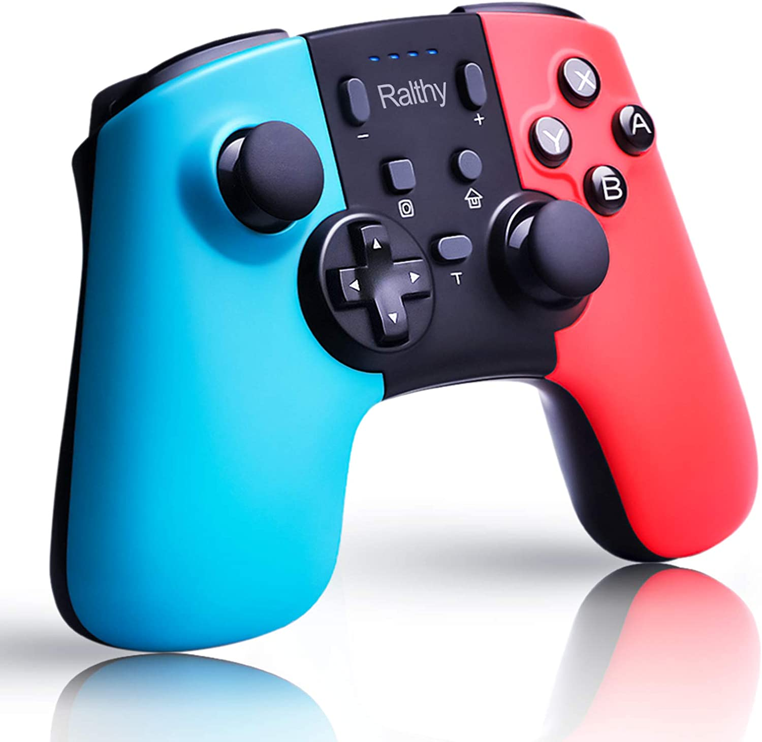 Ralthy Wireless Pro Controller Compatible with Switch/Switch Lite, Rechargeable Battery Replacement Remote Extra Gamepad Joystick, Support Motion Control and Dual Shock