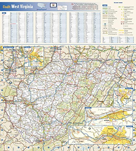 Amazon.com : West Virginia State Wall Map - 16.5\