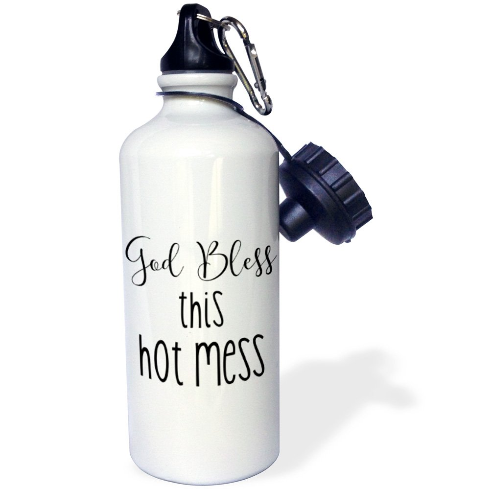 21 oz 3D Rose 1 wb/_235576/_1 Sports Water Bottle White
