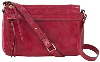 80606cdf48 Amazon.com  Hobo Handbags Vintage Leather Tobey Crossbody Bag - Red Plum   Shoes