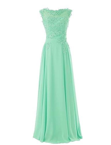 MARSEN Women's Floor Length Formal Chiffon Evening Gowns