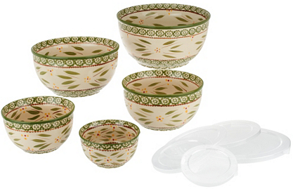 GREEN: Temp-tations Old World 5-Piece Concentric Bowl Set - K41277 — QVC.com