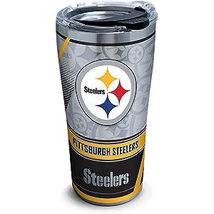 Tervis 1266677 NFL Pittsburgh Steelers Edge - Vaso de acero inoxidable con  tapa de martillo transparente b96c85a9aa6