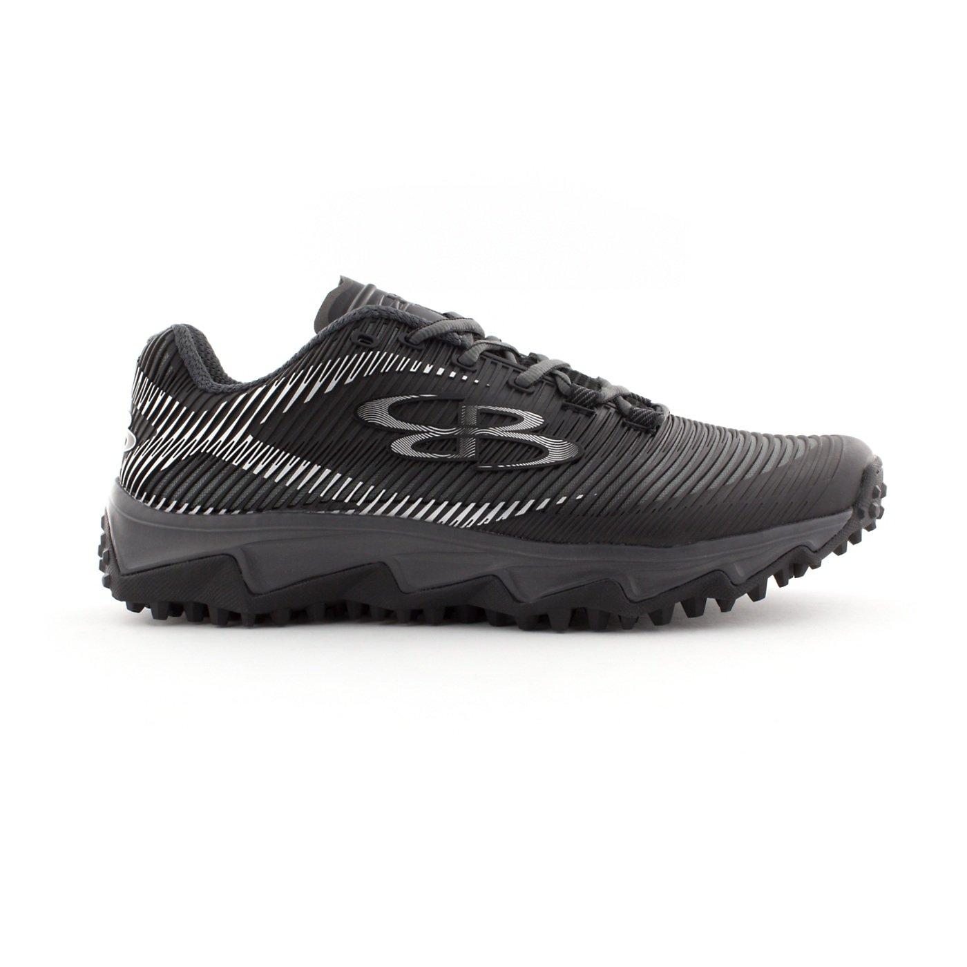 BoombahメンズAftershock DPS Turf Shoes – 18カラーオプション – 複数のサイズÉ B0767PZCTQ 10.5|ブラック/チャーコール ブラック/チャーコール 10.5