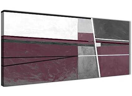 Plum astratta viola pittura camera da letto da parete tela grigio