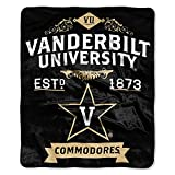 NCAA Vanderbilt Commodores College Label Raschel Throw, 50 x 60-Inch