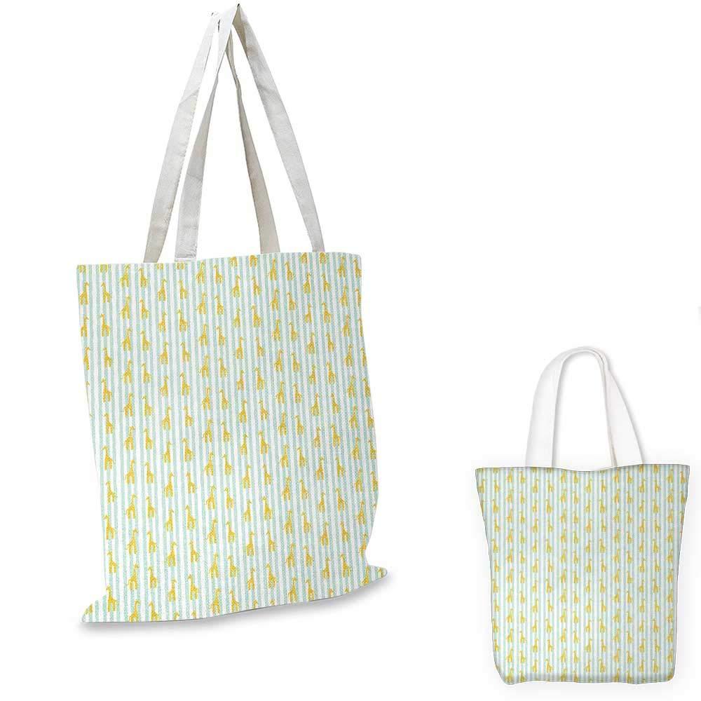 キリンサファリ 野生動物 アート柄 緑のスポット付き 赤ちゃん 子供 黄緑 濃茶 白 12