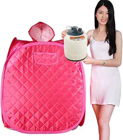 Smartmak Portable Steam Home Sauna Personal Remote Control 2L Steamer for Detox /& Weight Loss Lightweight Double Person Spa Indoor Pink