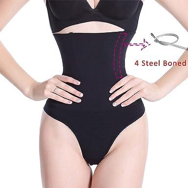 b129590ed5 For What Reason Women Shapewear High Waist Tummy Control Pants Body Shaper  Seamless Underwear Thong Panties Slimming at Amazon Women s Clothing store