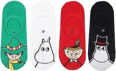 4 Pairs MOOMIN Animation Cartoon Socks Women Girls Character Socks MADE IN KOREA