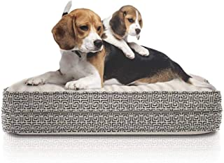 product image for eLuxurySupply Dog Bed - Orthopedic Cluster Fiber Filling Pet Bed for Dogs & Cats - Waterproof Cotton Canvas Cover Featuring LiveSmart Technology - Assembled in The USA - Small Medium & Large Size