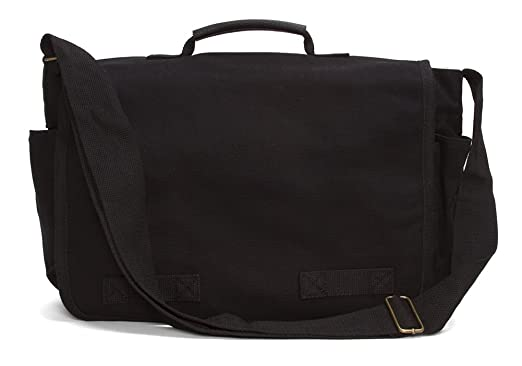 Amazon.com | Gravity Travels Heavyweight Canvas Messenger Bag ...