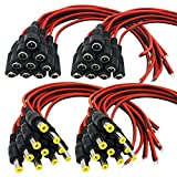 Igreeman 20 Pair DC Power Pigtail Male & Female Cable (Upgraded 18AWG) with 2.1mm x 5.5mm Connectors for Home Security Surveillance Camera Power Adapter and Party lighting Power Connection