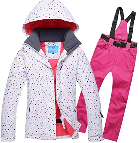 CNGYY Chaqueta de esquí para Mujer + Pantalones Impermeable ...