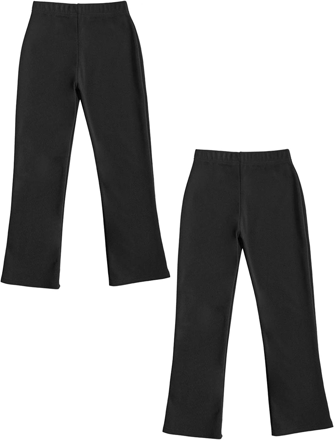 Pull On Stretch Rib Trousers Junction 10 Girls Elasticated Waist Pull Up School Trousers