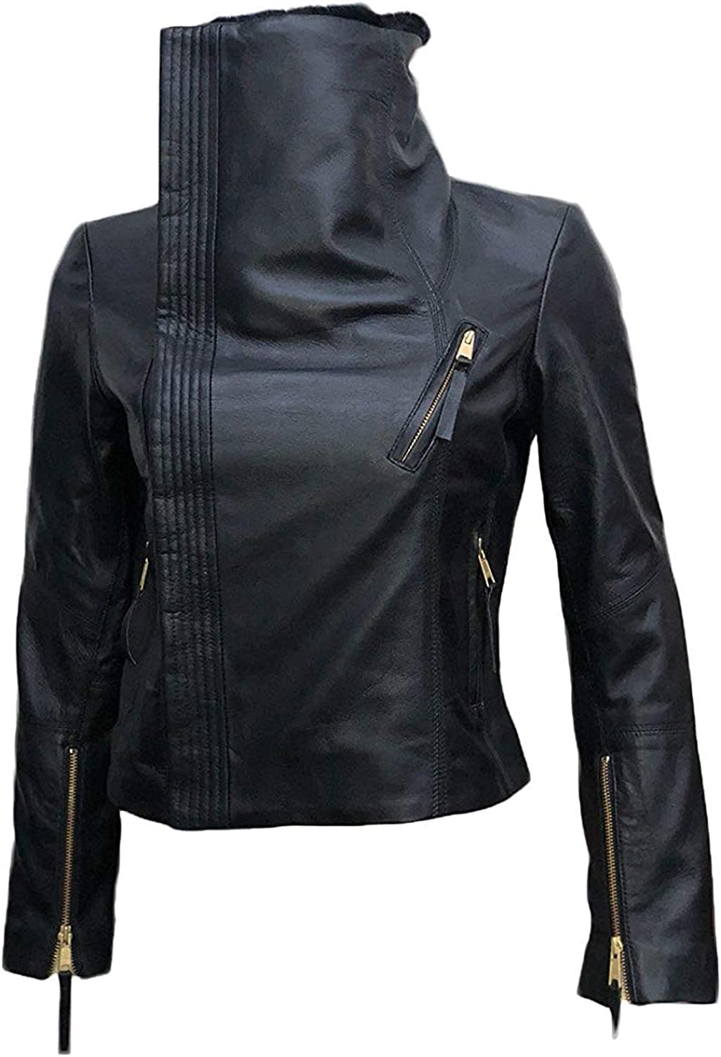 Gal Gadot Black Ladies Leather Jacket for Womens TrendzSetterz Women Black Leather Jacket