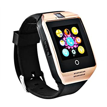 YANXH Bluetooth Touch Screen Q18 Smart Watch Para Dispositivos Móviles Android Iphone X 8 Sim Card