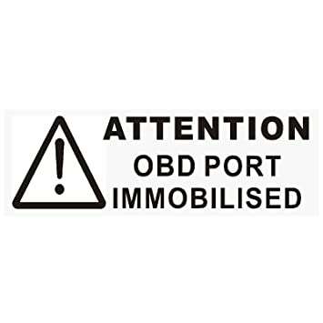 Platinum Place  X Black Obd Port Disabled Stickers Mm X Mm Security Window