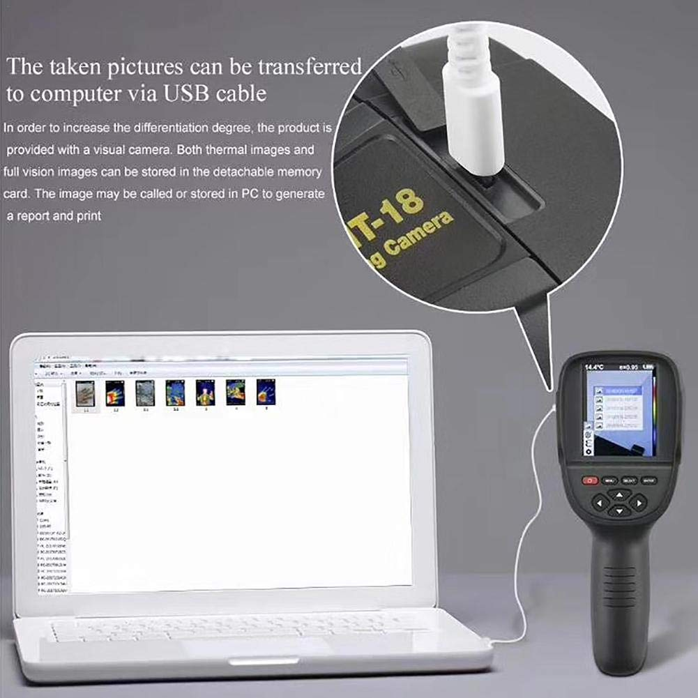 IR Resolution Handheld 35200 Pixels Thermal Imaging Camera Ksruee 220X160 Infrared Thermal Imager with 3.2 Color TFT Screen
