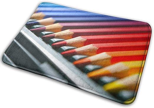 Sheho Filas Lápices De Colores Felpudo Antideslizante para casa jardín Puerta Alfombra Felpudo Piso Almohadillas 40x60 cm: Amazon.es: Hogar