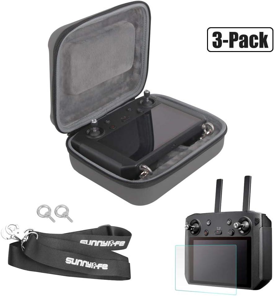 RC GearPro Waterproof Carrying Case + Tempered Screen Film + Neck Lanyard for DJI Mavic 2 Pro/Zoom Smart Controller Accessories Kit
