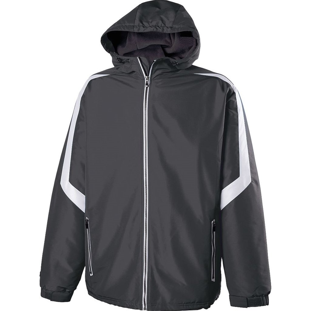 Holloway Youth Charger Jacket (Large, Carbon/White) by Holloway